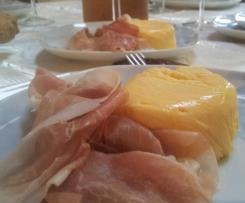 Sformatini freddi di melone con prosciutto