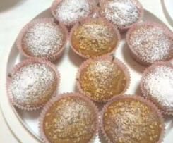 muffins alla banana con cuore di nutella