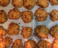 Cookies integrali arancia e cioccolato fondente