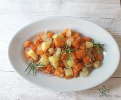 Zucca e patate al rosmarino sottovuoto