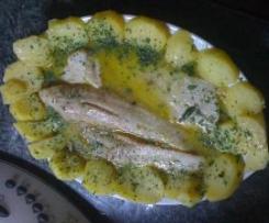 Filetto di  merluzzo al Varoma con patate