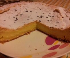 Torta della nonna alla crema di vaniglia