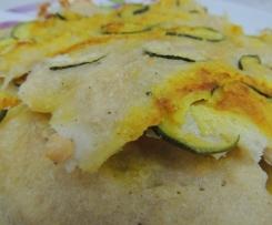 Schiacciatina zucchine  e curcuma