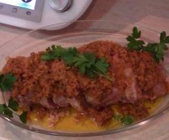 polpettone di carne porri e carote
