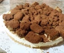 La mia cheesecake tiramisù con uova cotte