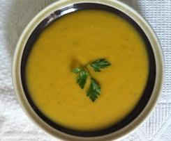 Zuppa di zucca e patate dolce