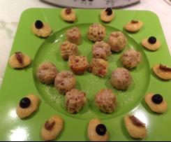 Biscottini al prosciutto del gennargentu e mini madelein al tonno / contest biscotti salati/