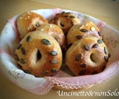 Ciambelline di pane integrale