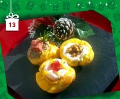 Bigne' aperti delle Feste con 3  Mousse - Natale