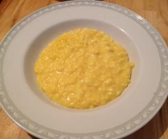 risotto crema di grana e zafferano
