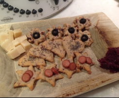Biscotti salati ai crauti rossi/ contest biscotti salati/