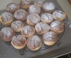 muffin bicolore al latte di cocco