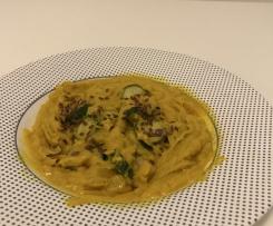 Zucchine affogate in crema di lenticchie rosse