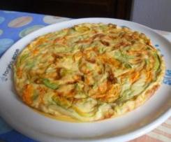 Frittata al forno con fiori di zucca