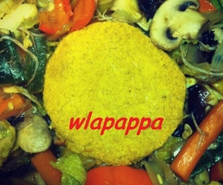Vegan hamburger di amaranto al curry (gluten free)
