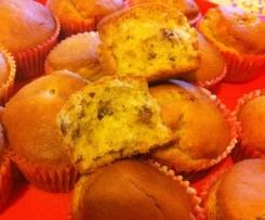 Tortini/muffins per colazione (ai 5 cereali, con sciroppo d'acero e latte di soia)