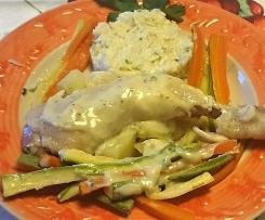 Cosciotti di pollo con verdure e riso in salsa (Contest cottura multilivello)
