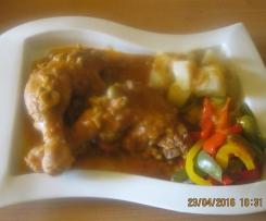 Coscia di anatra in umido con patate e peperoni(contest multilivello)