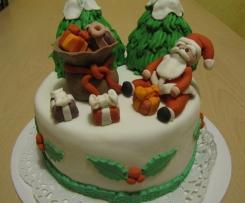 Torta natalizia per augurare a tutti BUON NATALE da Moni78!!!!!!